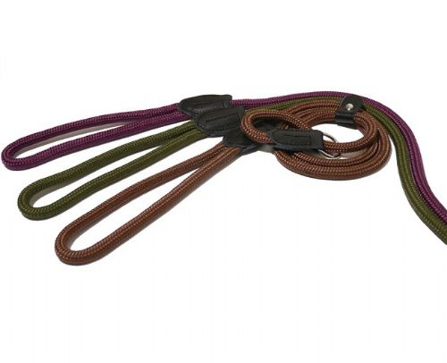 Rosewood Rope Twist Dog Slip Lead 48""